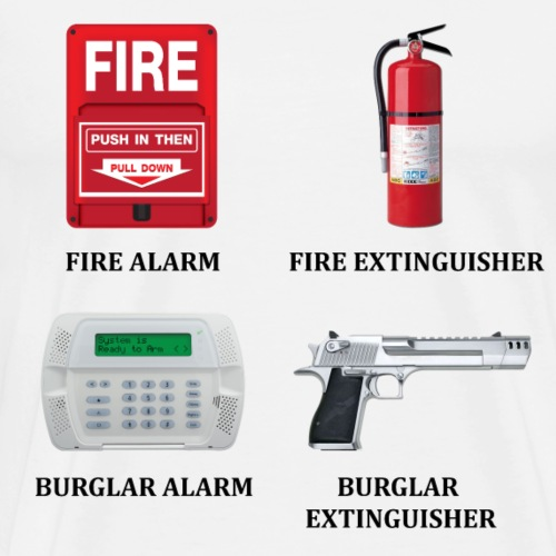 Burglar Extinguisher - Men's Premium T-Shirt