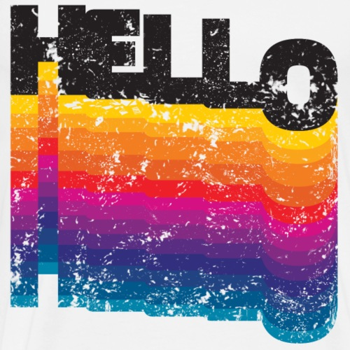 Grunge HELLO colorful - Men's Premium T-Shirt