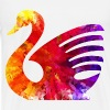 psychedelic swan tshirt image - Men's Premium T-Shirt