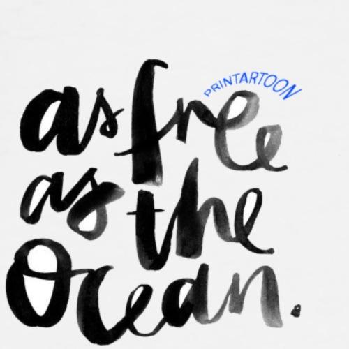 Free as Ocean - Men's Premium T-Shirt