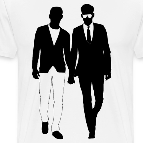 Gay men love holding hands from Bent Sentiments - Men's Premium T-Shirt