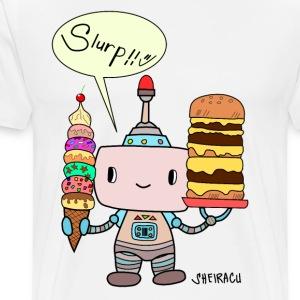 Sheiracu´s cute little robot - Men's Premium T-Shirt