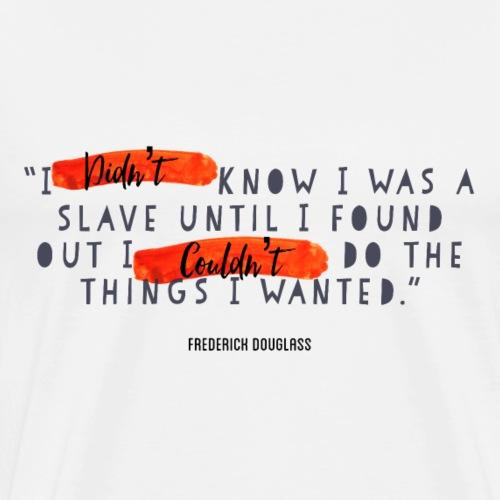 Frederick Douglass Black (Red Series) - Men's Premium T-Shirt