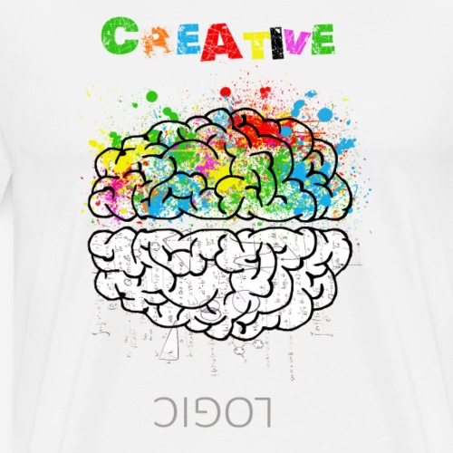 Creative and logic brain - Men's Premium T-Shirt
