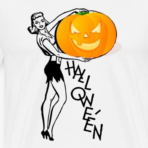 Halloween _ Pumpkin - Men's Premium T-Shirt