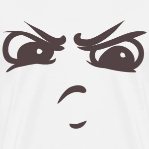 Intimidating face - Your emotions on your T-shirt - Men's Premium T-Shirt