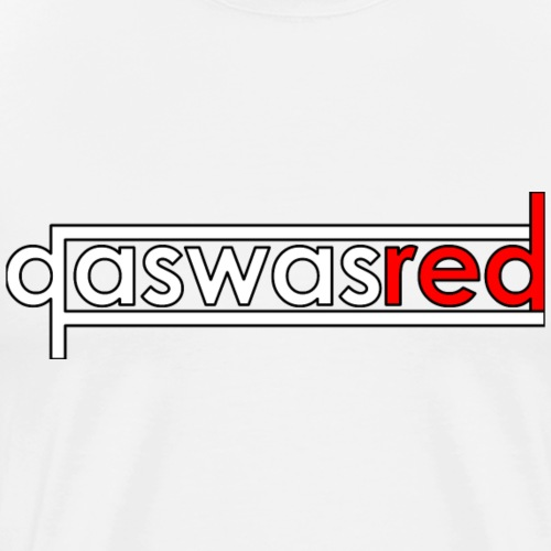 qaswasred Text Shirt - Men's Premium T-Shirt