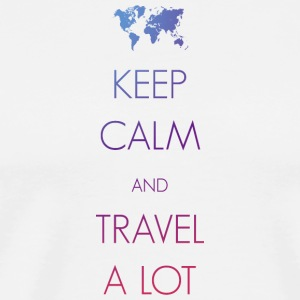Keep calm and travel a lot - Men's Premium T-Shirt