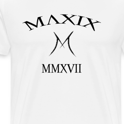 Official MAXIX MMXVII (2017) Brand Logo (Black) - Men's Premium T-Shirt