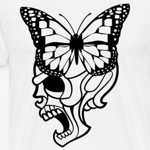 butterfly skull black - Men's Premium T-Shirt