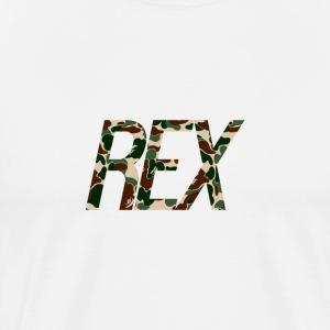 Rex Logo (CAMO) - Men's Premium T-Shirt