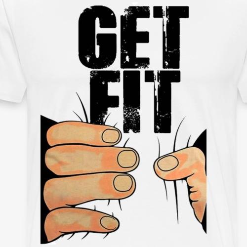 get fit transpar png - Men's Premium T-Shirt