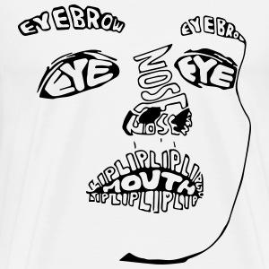Face design - Men's Premium T-Shirt