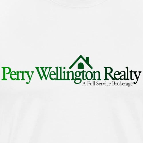 Perry Wellington logo green to black - Men's Premium T-Shirt