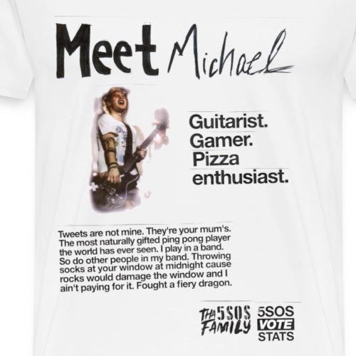 She Looks So Perfect - Meet Michael TRANSPARENT - Men's Premium T-Shirt