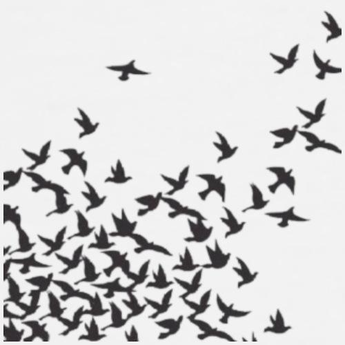 Birds Flying design - Men's Premium T-Shirt