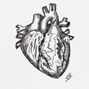 Heart Sketch - Men's Premium T-Shirt