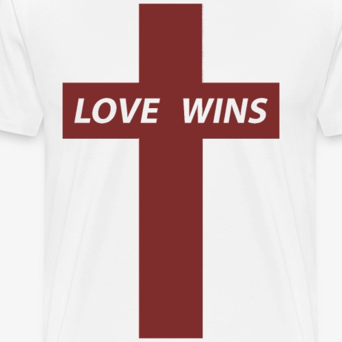 Love Wins (Red) - Men's Premium T-Shirt