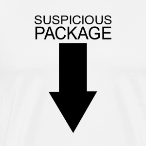 suspicious package - Men's Premium T-Shirt
