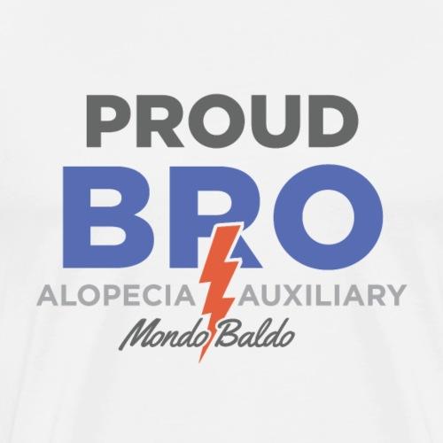 Mondo Baldo Alopecia Auxiliary - for the Brother - Men's Premium T-Shirt