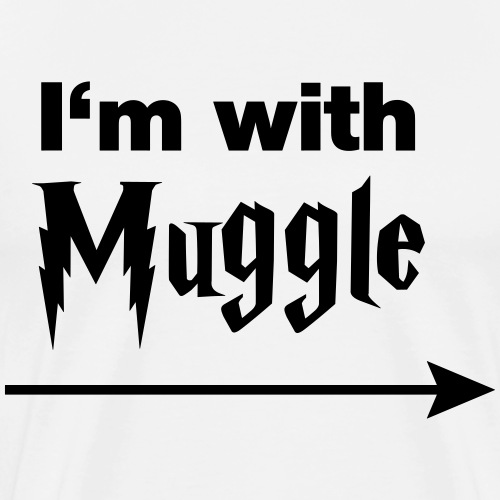 I'm with muggle - Men's Premium T-Shirt