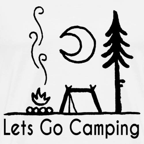 lets go camping camper - Men's Premium T-Shirt