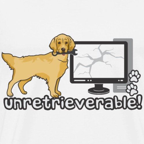 Golden Retriever - Unretrieverable - Men's Premium T-Shirt