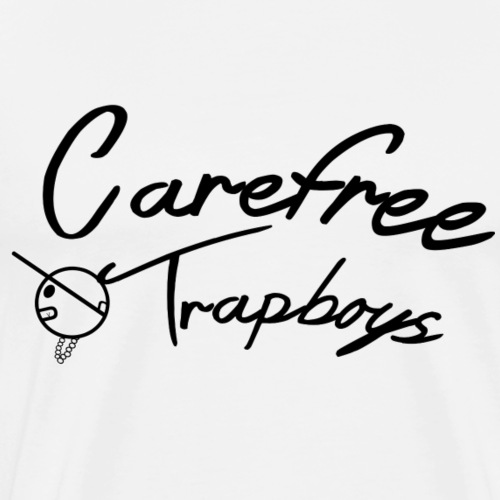 Carefree Trapboys (curve print) - Men's Premium T-Shirt
