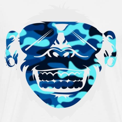 George Blue Wave Good Gainz Logo - Men's Premium T-Shirt