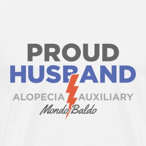 Alopecia Auxiliary - Proud Husband - Men's Premium T-Shirt