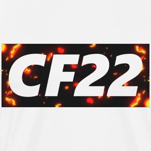 CF22 Box Logo Flame - Men's Premium T-Shirt