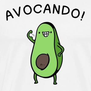 Avocado Power Cartoon Fun Shirt - Men's Premium T-Shirt