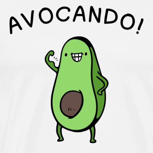 Avocado Power Cartoon Fun Shirt - Men's Premium T-Shirt