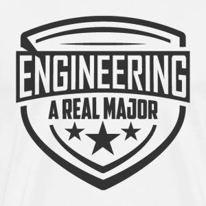 Engineering A Real Major Apparel - Shield Design - Men's Premium T-Shirt