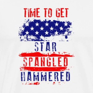 Time To Get Star Spangled Hammered Flug - Men's Premium T-Shirt