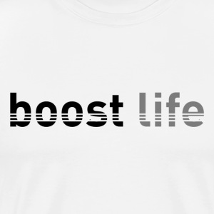 Black/Grey Boost Life Short Sleeve T-Shirt - Men's Premium T-Shirt