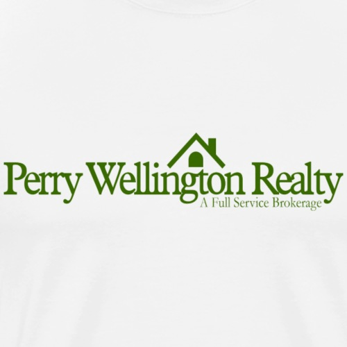 Perry Wellington logo - green - Men's Premium T-Shirt