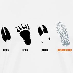 deer, bear, boar, bushcrafter - Men's Premium T-Shirt