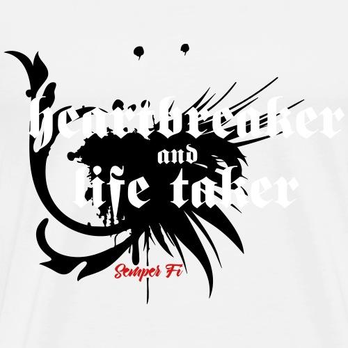 Heartbreaker and life taker - Men's Premium T-Shirt