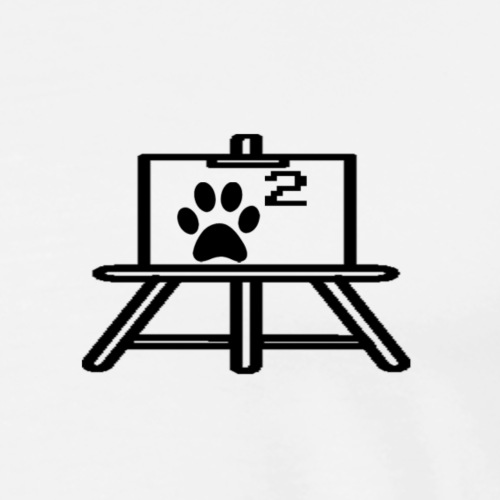 Dog's Easel - Men's Premium T-Shirt