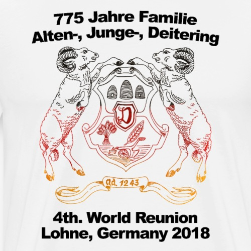 4th. World Reunion Deitering - World Cup Version - Men's Premium T-Shirt