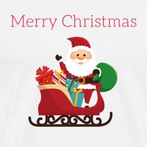 Santa and his presents - Men's Premium T-Shirt