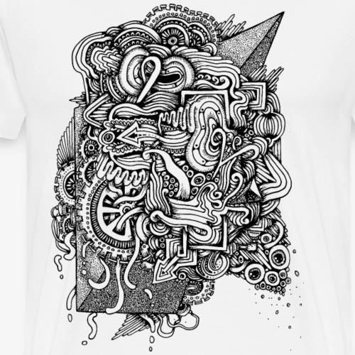 Black Doodle - Men's Premium T-Shirt