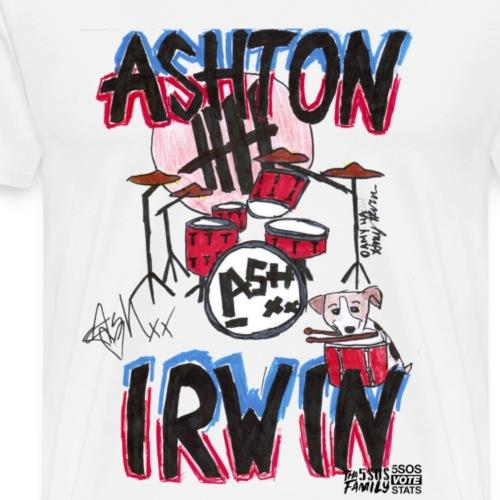 Ashton Irwin Drums&Indie print-5sos TRANSPARENT - Men's Premium T-Shirt