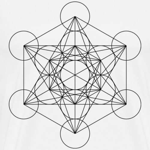Metatron's Cube Sacred Geometry - Men's Premium T-Shirt