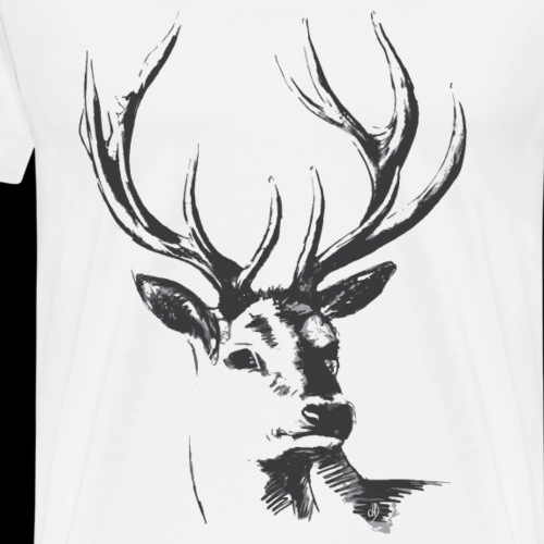 T Shirt 01 dD Cerf V2 Deer 02 - Men's Premium T-Shirt