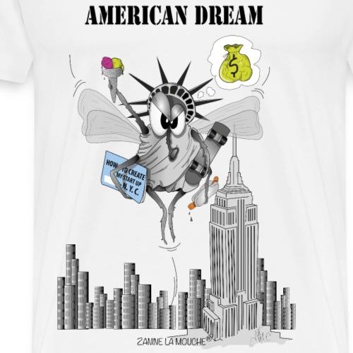 Zanine la Mouche American dream - Men's Premium T-Shirt