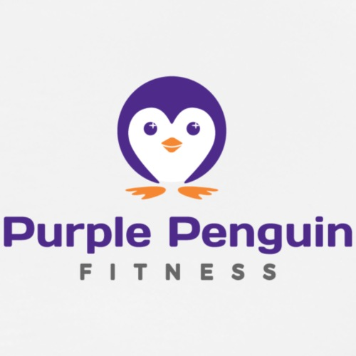 Purple Penguin Fitness Small Logo - Men's Premium T-Shirt