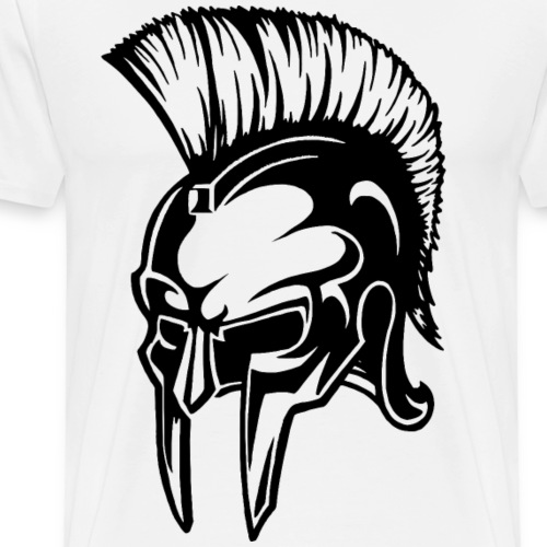 Spartan Warrior Helmet - Men's Premium T-Shirt