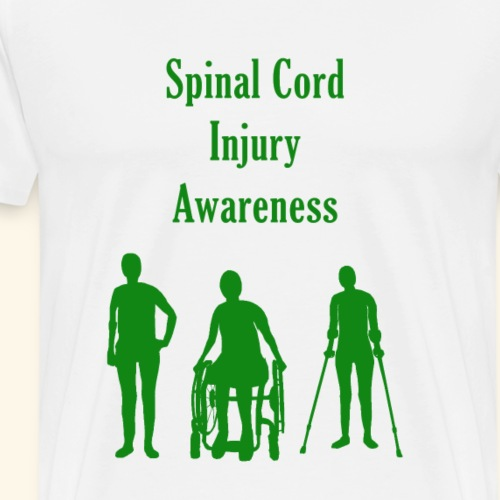 Spinal Cord Injury Awareness - Green - Men's Premium T-Shirt